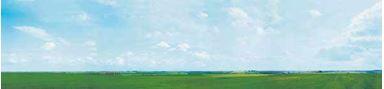 AUHAGEN 42510 — Задник макета «Döllnitz»,(3 листа ~970×680мм), TT-H0