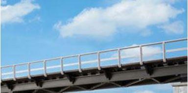 AUHAGEN 42655 — Перила для железнодорожных мостов (~1660 мм), 1:87—1:120