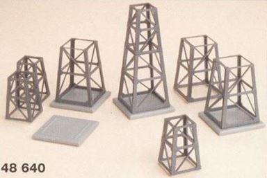 AUHAGEN 48640 — Набор стальных несущих конических конструкций 8 шт. и фундамент опор 4 шт., H0