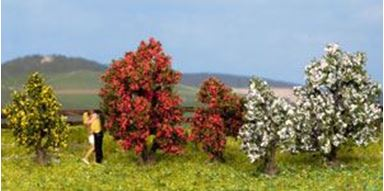 NOCH 25420 — Цветущие кусты (5 растений) ~30—40мм, 1:87—1:120