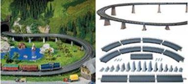 FALLER 120471 — Опоры и пролёты для подъёма и спуска железной дороги, H0, 1880–1920