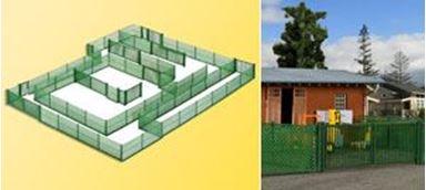 KIBRI 38603 — Забор зелёного цвета с воротами (~2800мм), 1:87