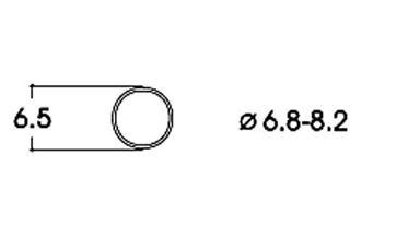 ROCO 40067 — Фрикционный обод ⌀6,5-8,2мм, H0