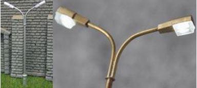 SVETTOFOR 15121 — Двойной фонарь освещения (тип 1) (белый), H0, VI, РЖД