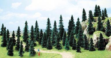 BUSCH 6497 — Хвойный лес (50 шт., 60—110мм), 1:87—1:120
