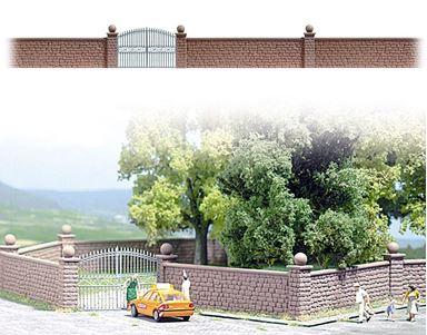 BUSCH 6014 — Ограда каменная, H0