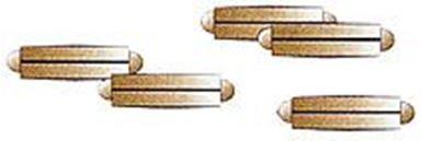 TILLIG 85502 — Изолирующие соединители для рельс (20 шт.), H0-H0m-H0e