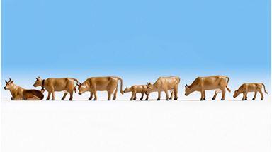 NOCH 36722 — Коровы темно-коричневые (9 шт.), 1:160