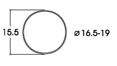 ROCO 40072 — Фрикционный обод ⌀16,5-19мм, H0