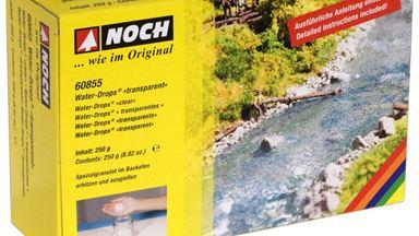 NOCH 60855 — Модельная вода Water-Drops® «прозрачная» (250 г), 1:10—1:1000
