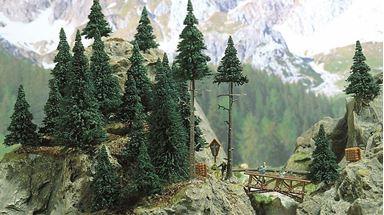 BUSCH 6478 — Хвойный лес (в том числе 20 сосен, 50—110мм), 1:87