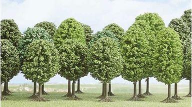 BUSCH 6487 — Лиственные деревья (25 деревьев) ~70—125мм, 1:72-1:120