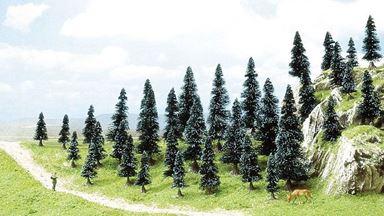 BUSCH 6492 — Ели (35 деревьев, 50—110мм), 1:87
