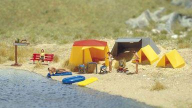 BUSCH 6026 — Небольшой палаточный лагерь (набор), 1:87