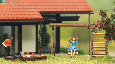 BUSCH 1485 — Детская игровая площадка, H0