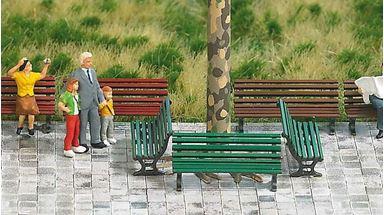 BUSCH 1149 — Парковые скамейки (12 шт.), H0