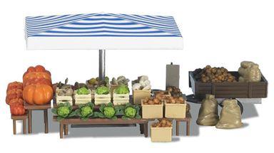 BUSCH 1070 — Рыночный лоток «Овощи», 1:87