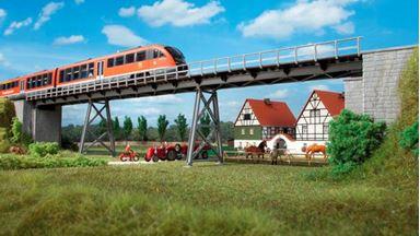 AUHAGEN 11430 — Мост с опорами (общая длина 560 мм), H0