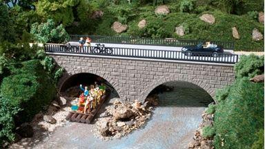 AUHAGEN 41589 — Мост автомобильный 2-х арочный, 1:87