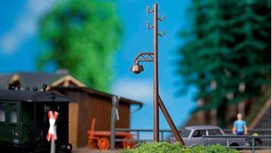 AUHAGEN 42632 — Столбы линии электропередачи с лампой (6 шт.), 1:87-1:120