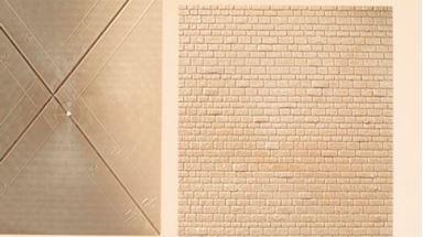 AUHAGEN 48578 — Каменная кладка (пластик ~120×150мм, 2 шт.), 1:87—1:120