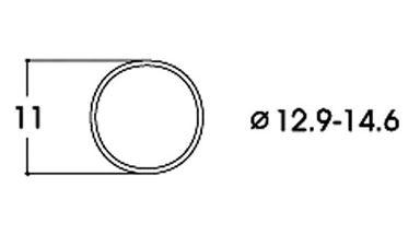 ROCO 40070 — Фрикционный обод ⌀11мм (10 шт.), H0