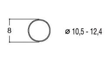ROCO 40069 — Фрикционный обод ⌀9мм (10 шт.), H0