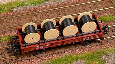 BUSCH 1681 — Катушки кабеля (4 шт.), H0 грузы для вагонов