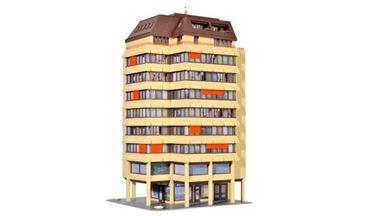 KIBRI 38218 — Жилой многоквартирный дом (свет), H0