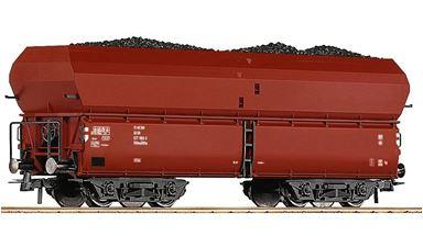 ROCO 56333 — Саморазгружающийся вагон для сыпучих грузов загруженный углём, H0, IV, DR
