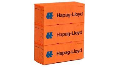 PIKO 56202 — 20-футовые контейнеры «Hapag-Lloyd» (3 шт.), 1:87
