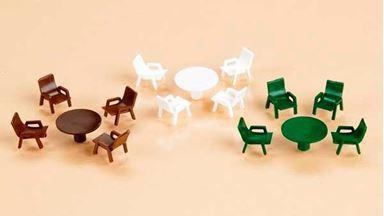 AUHAGEN 42647 — Садовые столы и стулья, 1:87–1:120