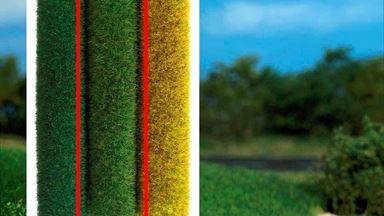 BUSCH 7211 — Трава светло-зелёная ~6мм (рулон 500×400мм ~0,2 м²), 1:10—1:200