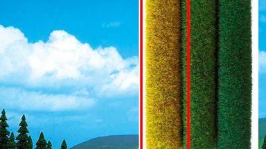 BUSCH 7214 — Трава «Нива» ~6мм (рулон 500×400мм ~0,2 м²), 1:43—1:160