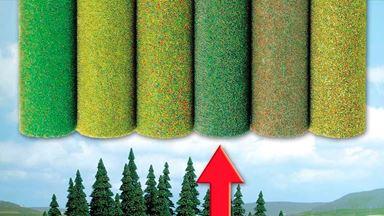 BUSCH 7223 — Трава смешанная (рулон 1000×800мм ~0,8 м²), 1:18—1:220