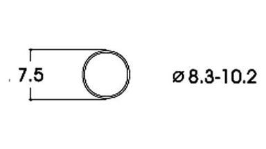 ROCO 40068 — Фрикционный обод ⌀8,3-10,2мм, H0