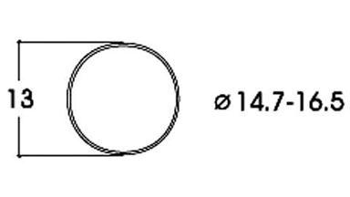 ROCO 40071 — Фрикционный обод 14,7-16,5мм (10 шт.), H0