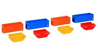 KIBRI 38648 — 8 различных контейнеров, 1:87