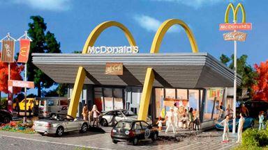 VOLLMER 43634 — Кафе фаст-фуд McDonalds и McAuto, 1:87