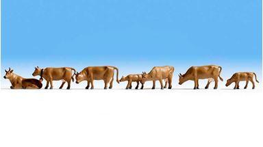 NOCH 15722 — Коровы коричневые (7 шт.), 1:72—1:100