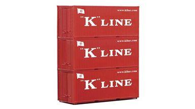 PIKO 56220 — 20-футовые контейнеры «K-Line» (3 шт.), 1:87