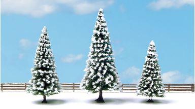 NOCH 25234 — Ели зимние (3 дерева) ~80—120мм, 1:72—1:220
