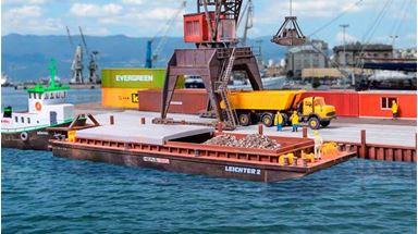 KIBRI 38522 — Баржа для контейнеров или сыпучих грузов, 1:87