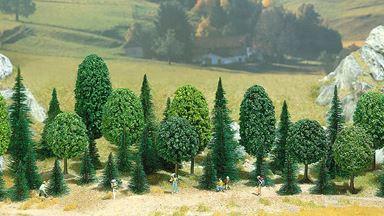 BUSCH 6490 — Смешанный лес (35 деревьев), 1:72-1:120