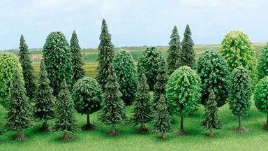 BUSCH 6489 — Смешанный лес (30 деревьев ~60—135мм), 1:72-1:100