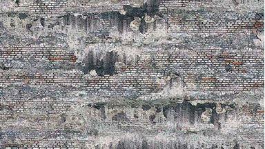 BUSCH 7415 — Выветренная каменная стена (картон, 210×148мм, 2 шт.), 1:87—1:120