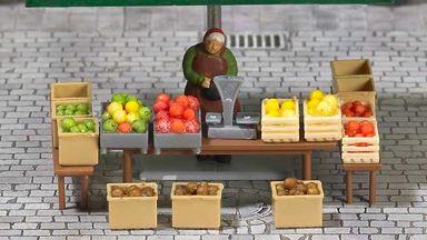 BUSCH 7706 — Рыночный киоск «Фрукты и овощи», 1:87