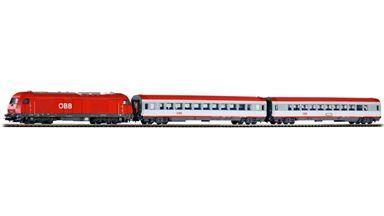 PIKO 59009 — Цифровой стартовый набор PIKO SmartControl® light™ «Пассажирский поезд с тепловозом Rh 2016», H0, V-VI, ÖBB