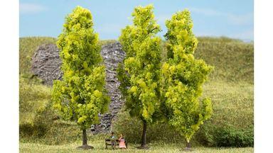 AUHAGEN 70939 — Лиственные деревья светло-зелёные (3 шт., ~150мм), 1:72—1:120