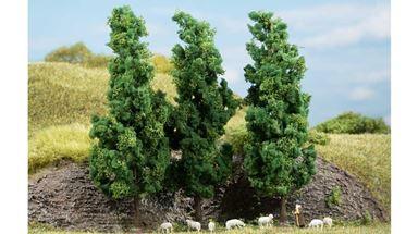 AUHAGEN 70940 — Лиственные деревья тёмно-зелёные (3 шт., ~150мм), 1:72—1:120